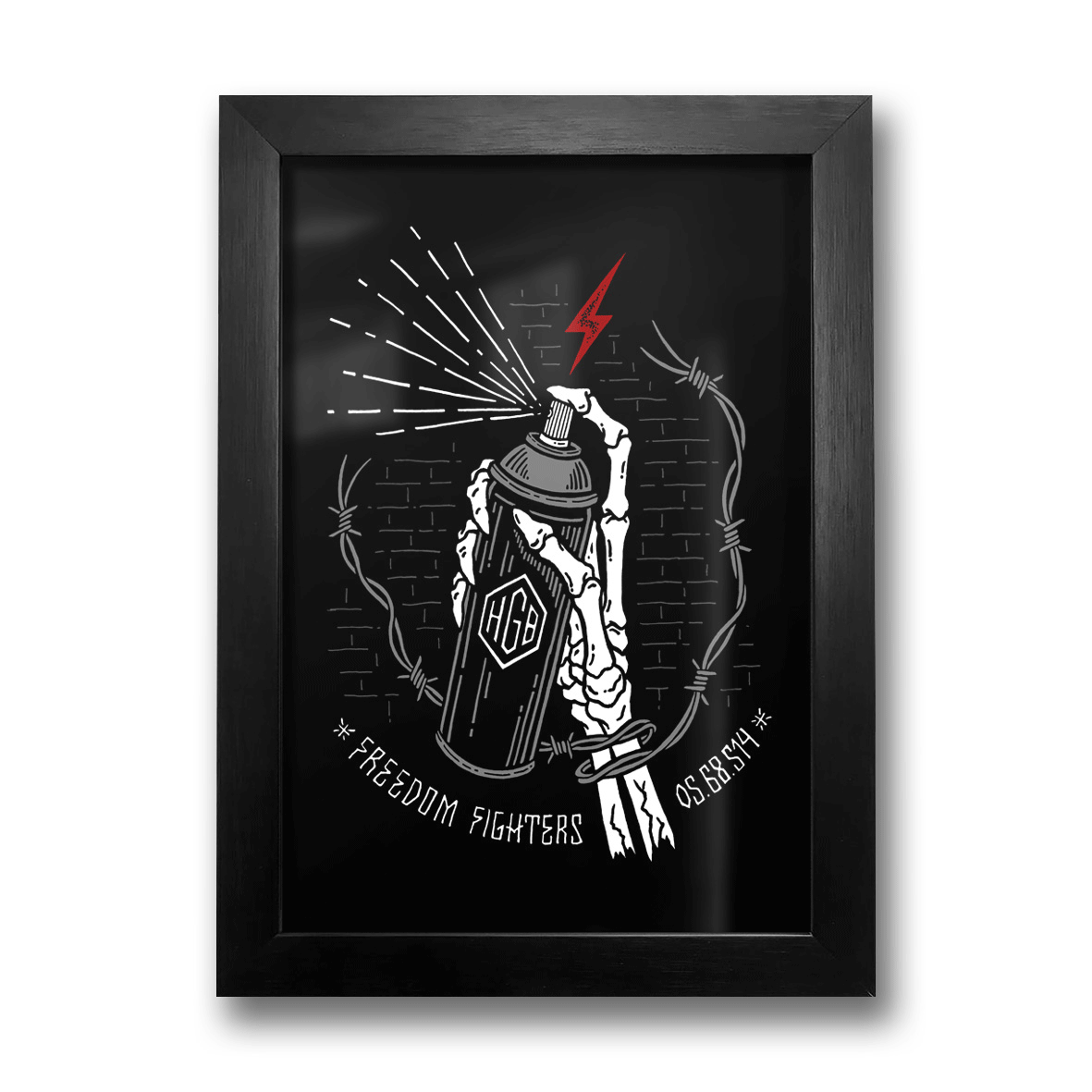 Quadro A4 - Freedom Fighters