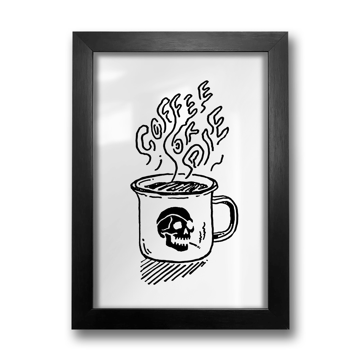 Quadro A4 - Coffee or Die