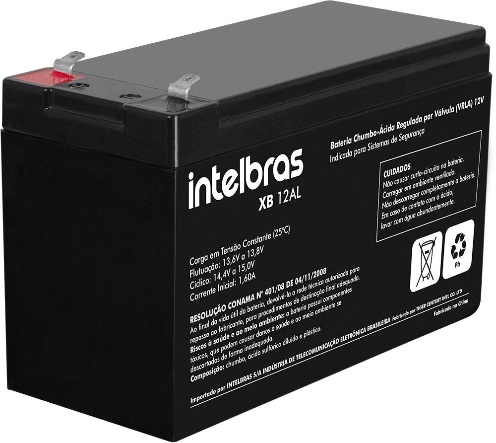 Bateria Ideal para Sistema de Alarme XB 12 AL Intelbras