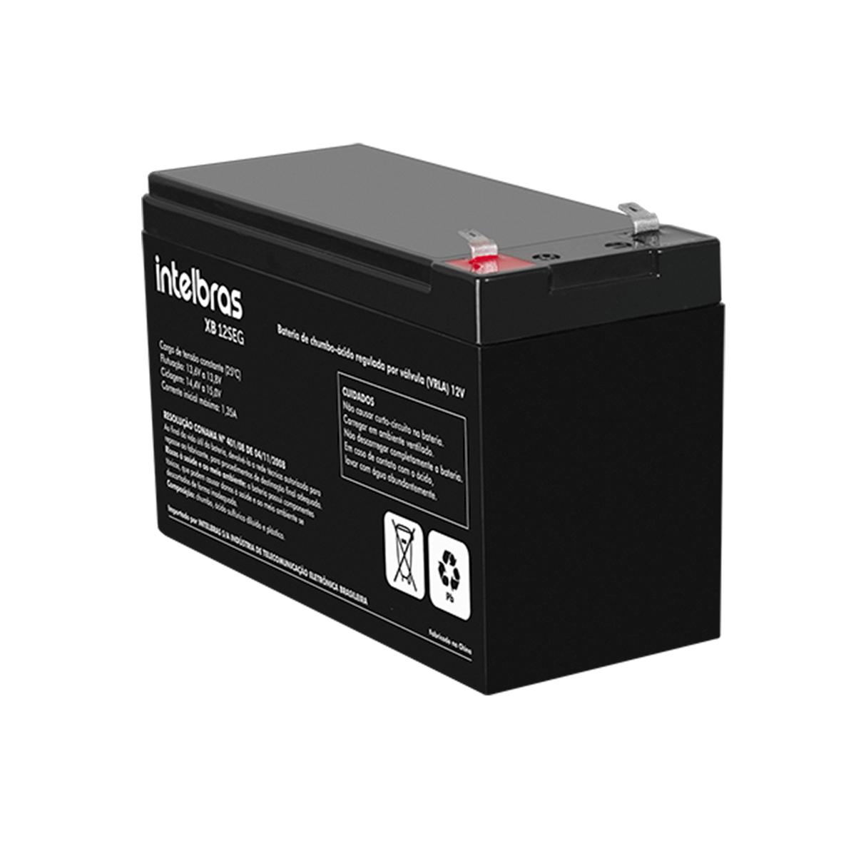 Bateria para Segurança Eletrônica de chumbo-ácido 12 V XB 12SEG Intelbras