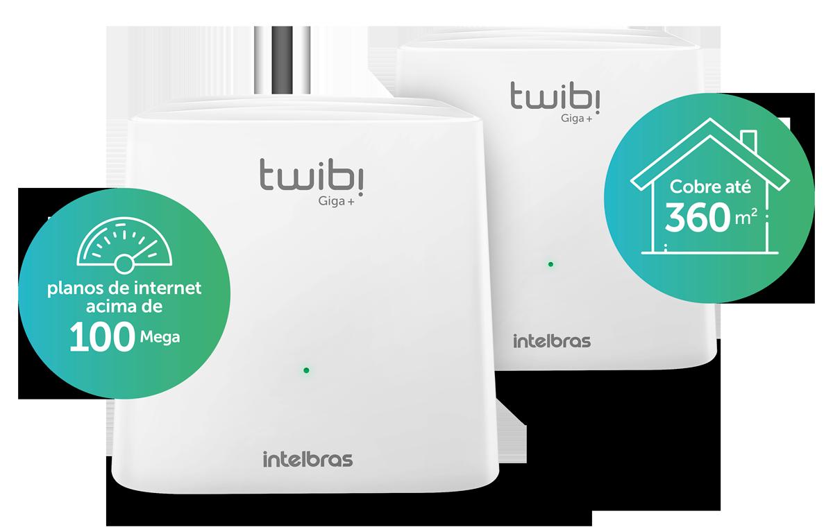 Conjunto Roteador Wi-Fi 5 Mesh Twibi Giga+ Intelbras