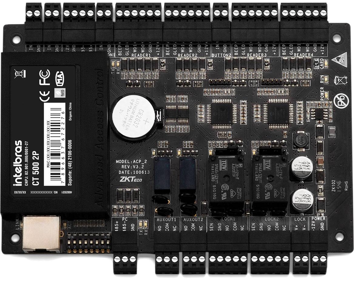Controladora de acesso 2 Portas CT 500 2P Intelbras