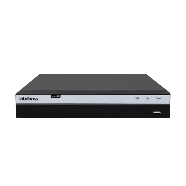 DVR Gravador de Vídeo 08 Canais Full HD 1080p  - 4MP Lite com HD WD Purple 3TB MHDX 3108 Intelbras