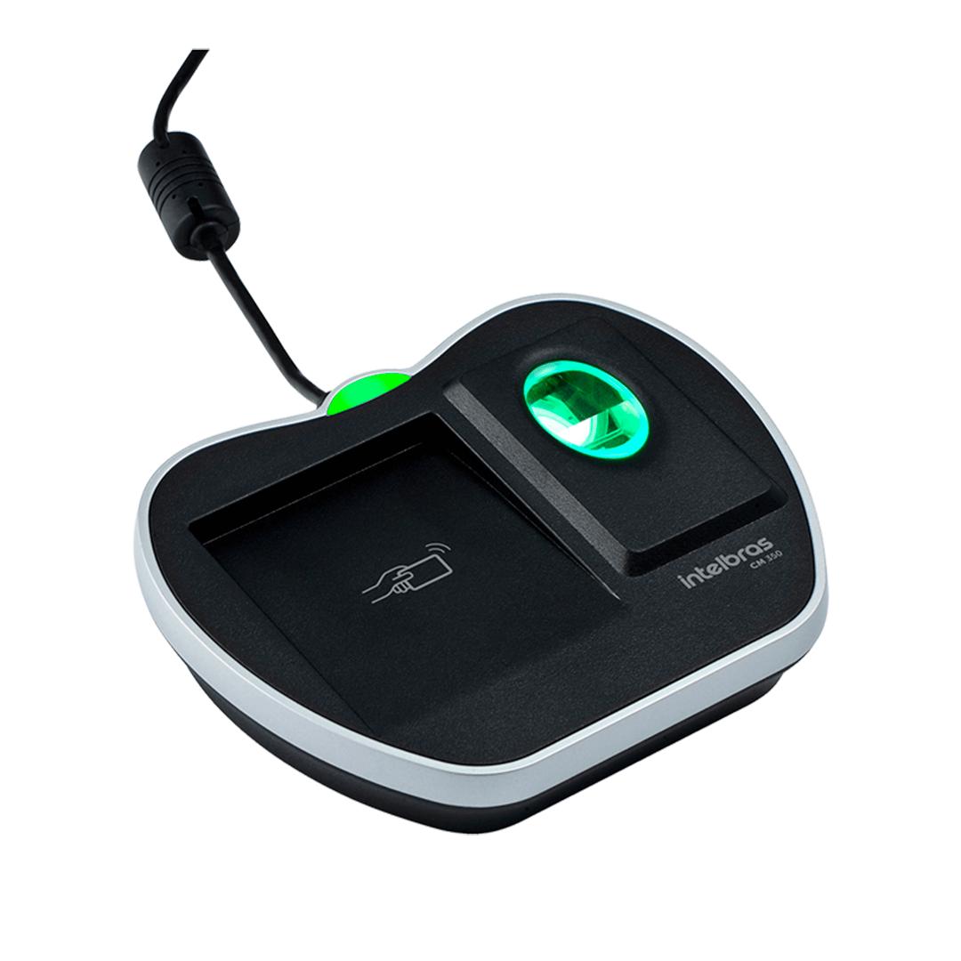Leitor cadastrador biométrico Intelbras CM 350  com RFID