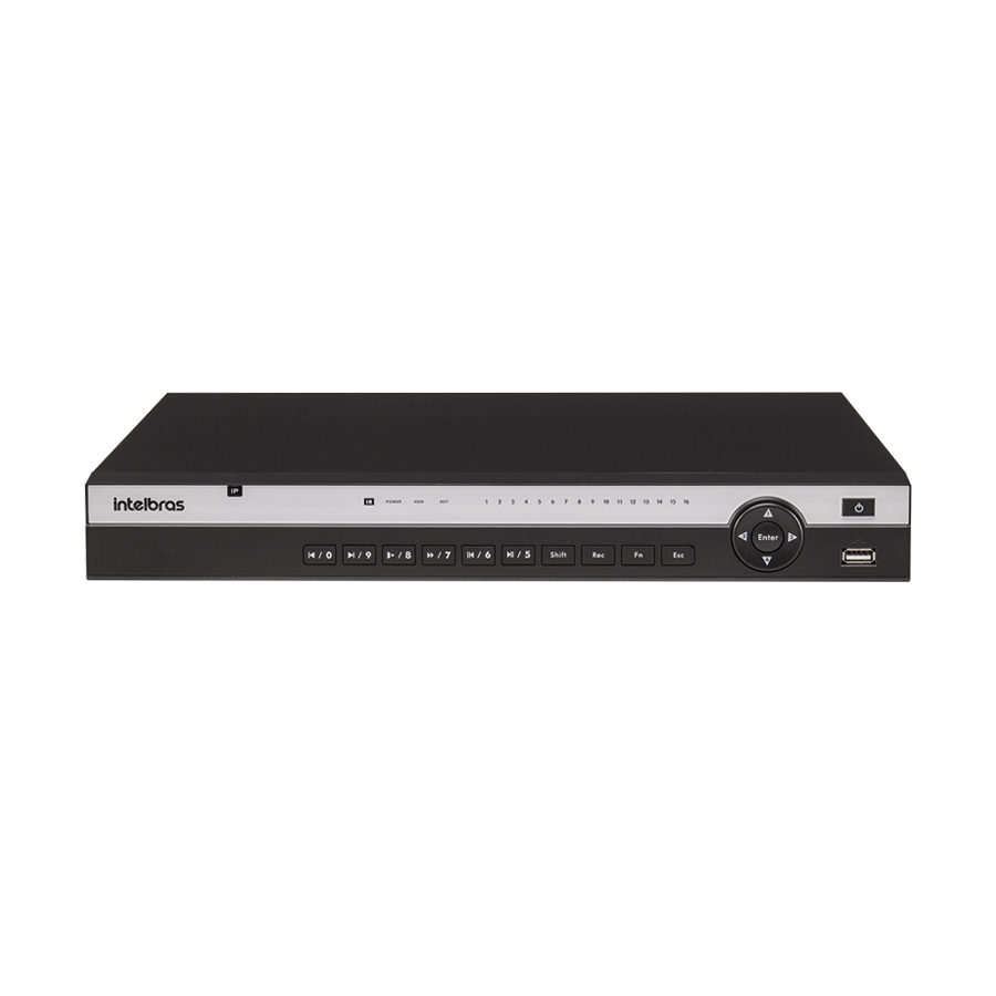 NVD Gravador de Video IP 16 Canais Full HD 1080p NVD 3116 Intelbras
