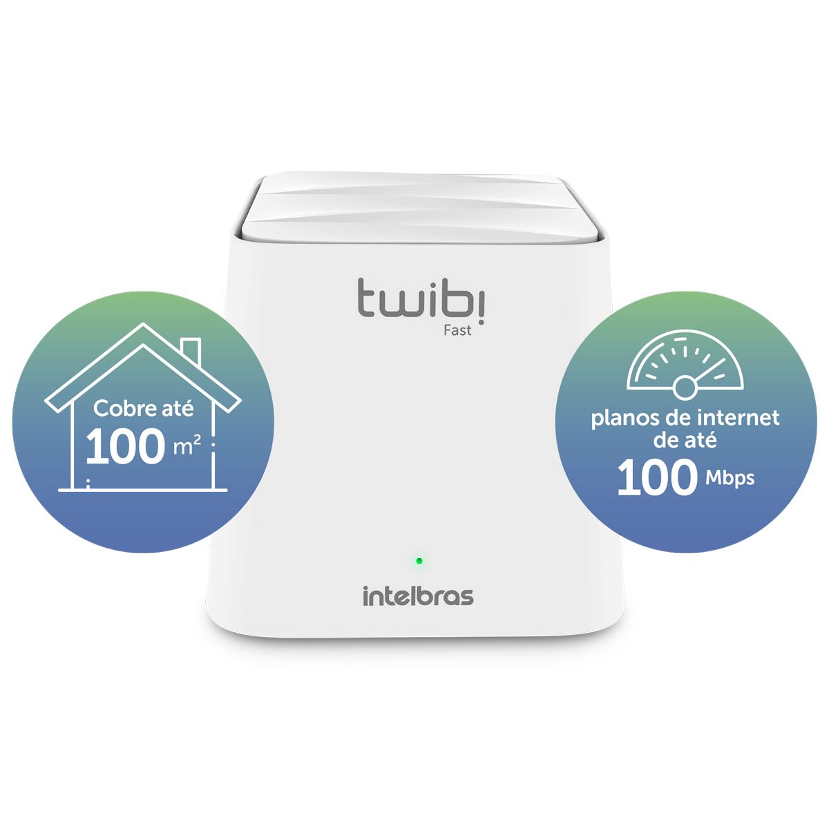 Roteador Wi-Fi 5 Mesh Twibi Fast Intelbras