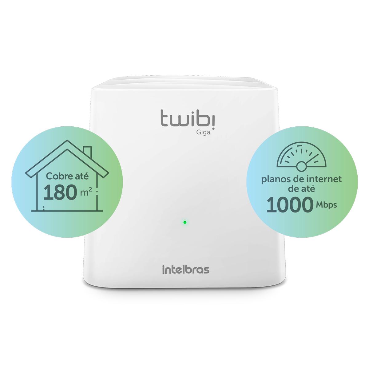 Roteador Wi-Fi 5 Mesh Twibi Giga Intelbras