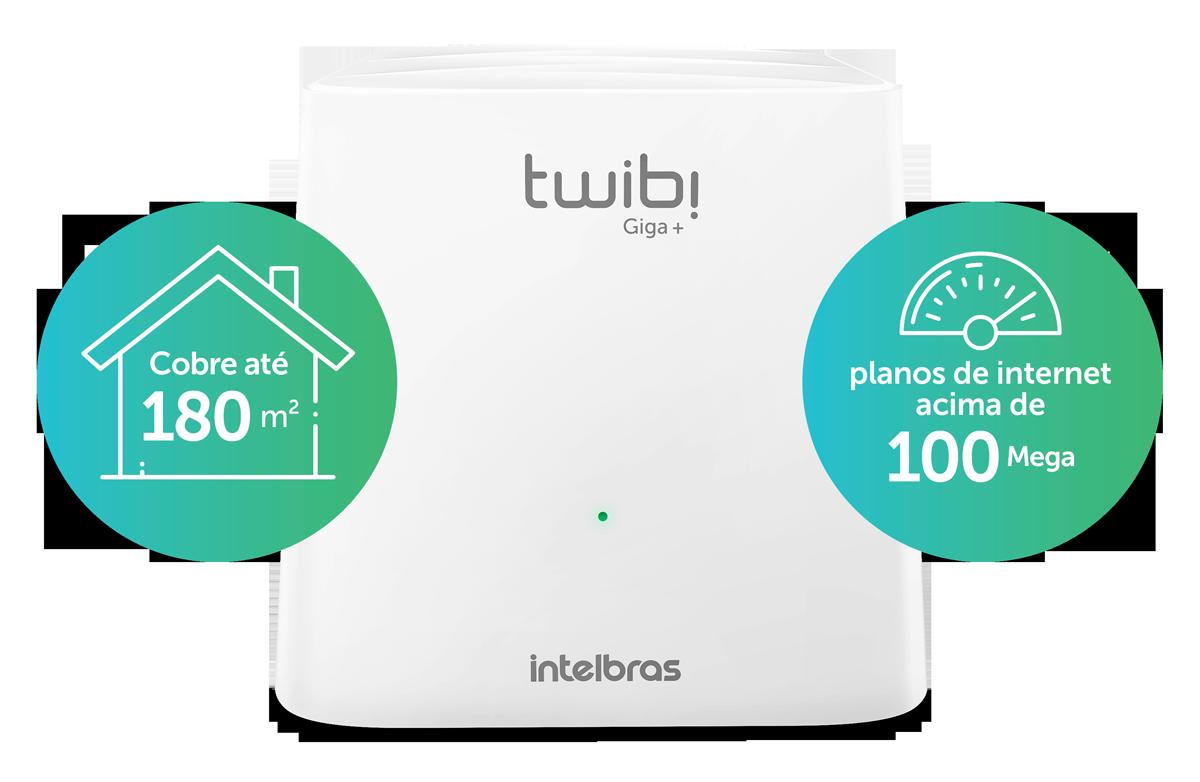 Roteador Wi-Fi 5 Mesh Twibi Giga+ Intelbras