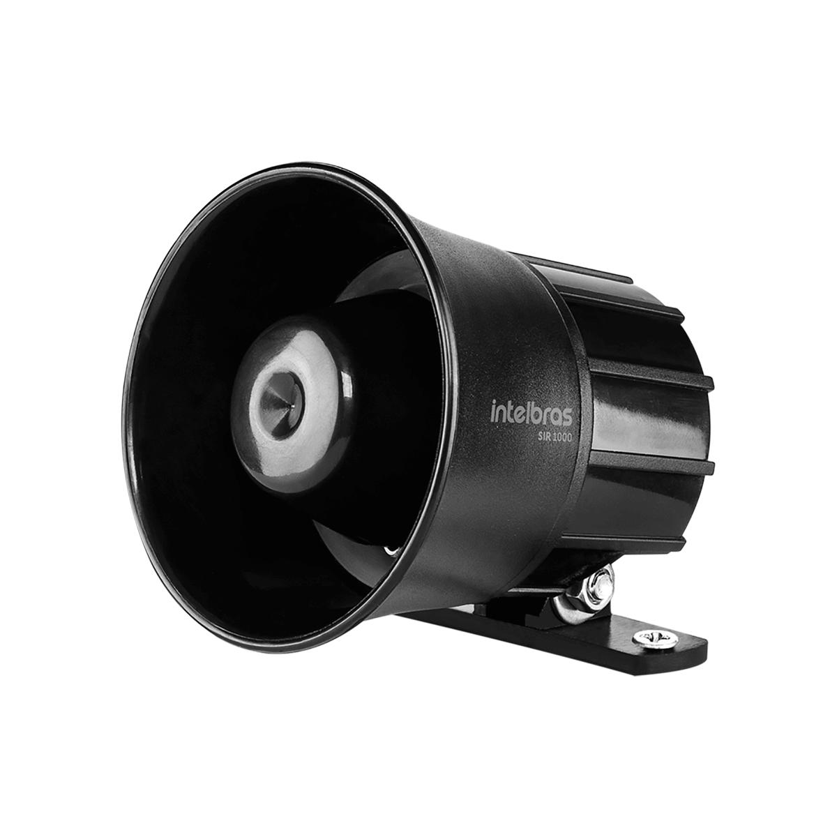 Sirene Com Fio 9 a 15 VDC105 dB para Sistema de Segurança SIR 1000 Preta Intelbras