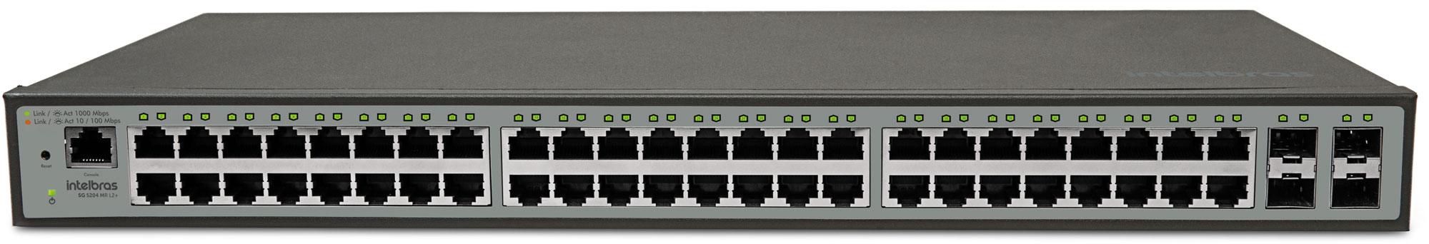 Switch Gerenciável 48P Giga SG 5204 MR L2+ Intelbras