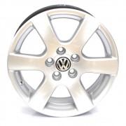 JOGO DE RODAS ORIGINAIS VW POLO ARO 15X6 PRATA 5X100 ET43 USADAS