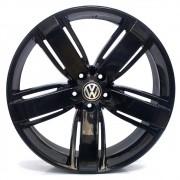 JOGO DE RODAS VW AMAROK ARO 22X8,5 PRETA 5X120 ET 45 USADAS