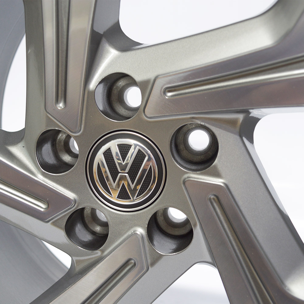 JOGO DE RODAS KRMAI R94 (VW GOLF GTI) ARO 17X7 GRAFITE DIAMANTADO 5X100 ET 38