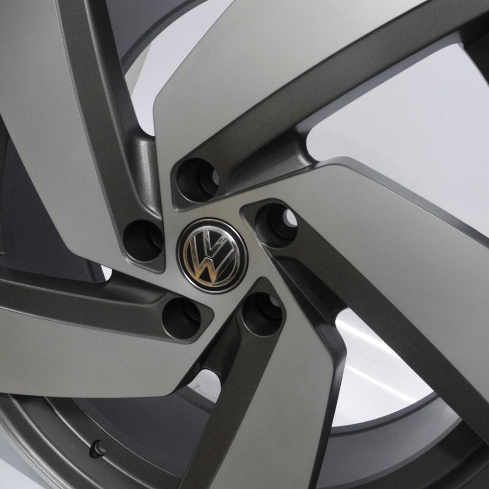JOGO DE RODAS MONACCO PASSIONE (VW GOL GTI) ARO 20X7,5 GRAFITE DIAMANTADO FOSCO 5X112 ET45
