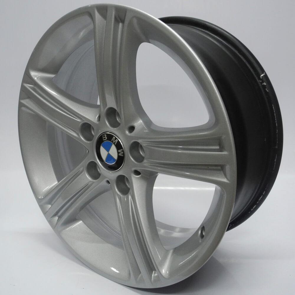 JOGO DE RODAS ORIGINAIS BMW 320 2013 ARO 17X7,5 PRATA 5X120 ET 37 USADAS