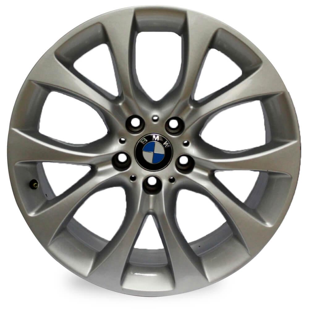 JOGO DE RODAS ORIGINAIS BMW X5 2018 ARO 19X9 PRATA 5X120 ET 37 USADAS