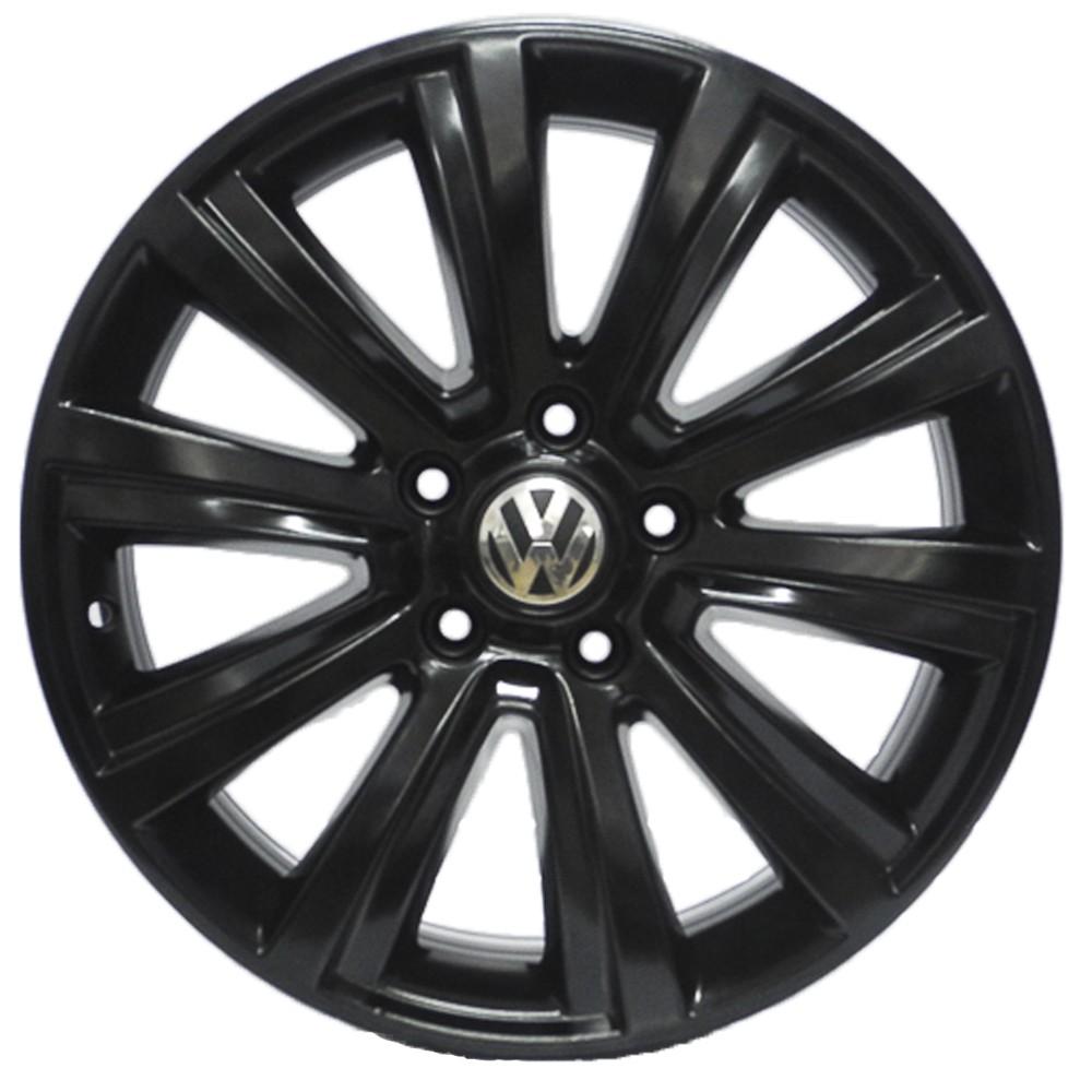 JOGO DE RODAS ORIGINAIS VW AMAROK HIGHLINE 2013 ARO 18X7,5 PRETO BRILHANTE 5X120 ET45 USADAS