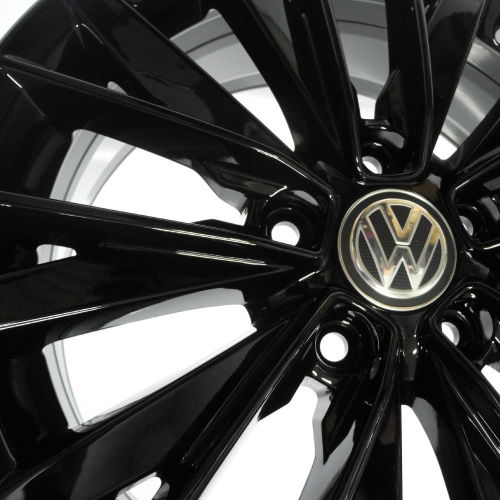 JOGO DE RODAS ORIGINAIS VW JETTA 2020 ARO 16X6,5 PRETA 5X112 ET 46 USADAS
