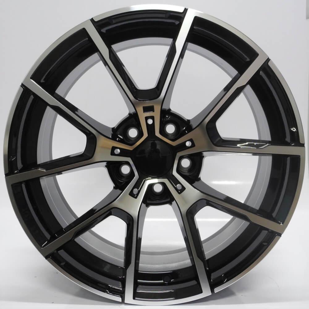 JOGO DE RODAS RAW BMW SERIE 3 / SERIE 4 / X3 / X4 ARO 19X8,5 PRETA DIAMANTADA 5X120 ET 35