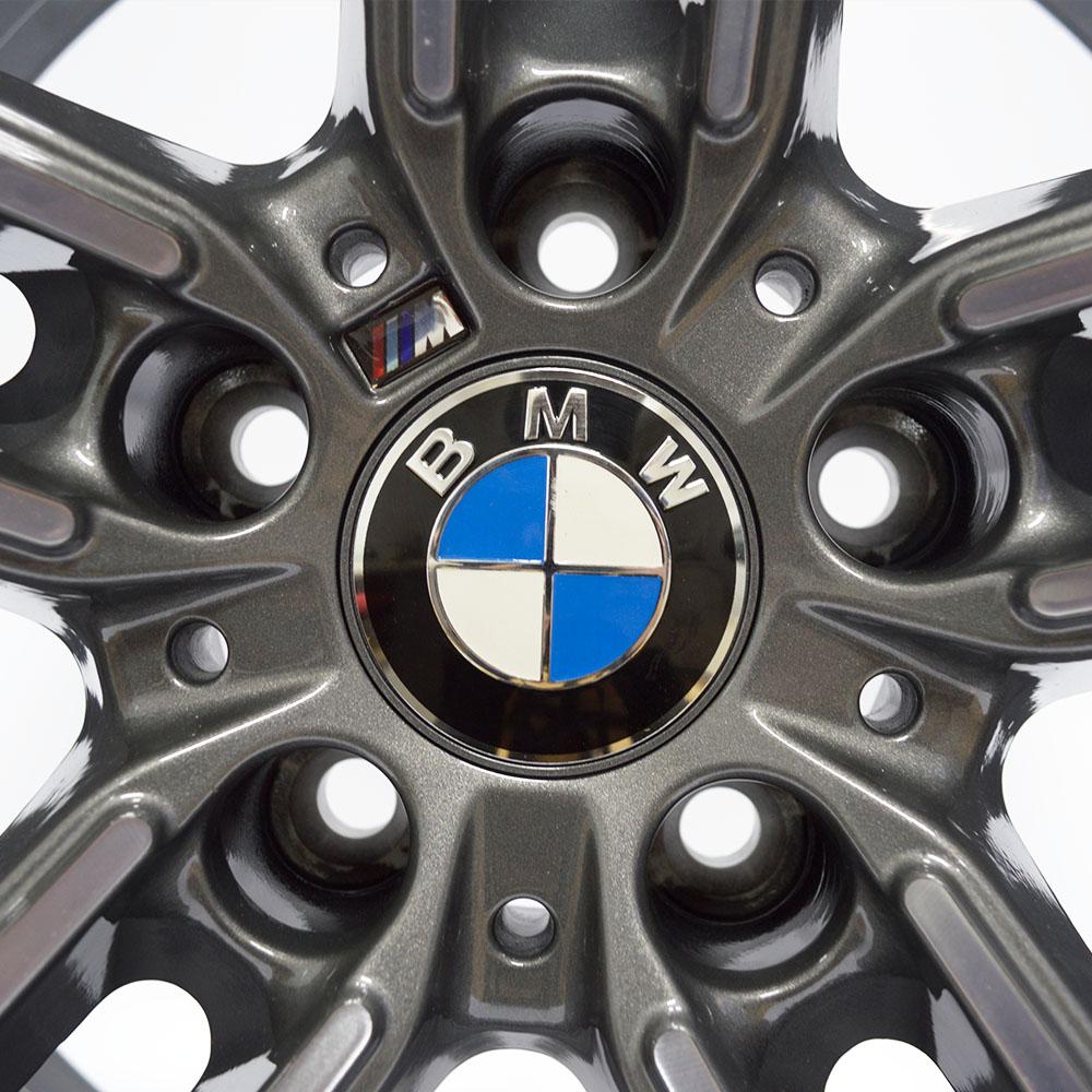 JOGO DE RODAS RAW (MC/B19) BMW X5 / X6 ARO 18X8 GRAFITE DIAMANTADA 5X120 ET 35