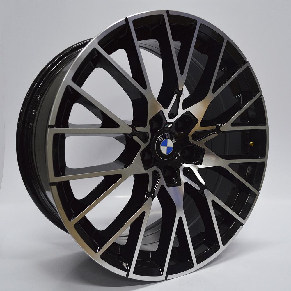 JOGO DE RODAS RAW (MC/B28) BMW M2 ARO 19X8,5 E 9,5 PRETA DIAMANTADA 5X112 ET 25 E 33