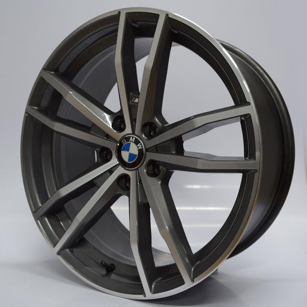 JOGO DE RODAS RAW (MC/B29) BMW 330I 2020 ARO 19X8 E 9 GRAFITE DIAMANTADO 5X120 ET 35 E 42