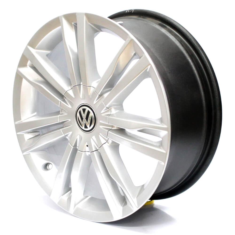 JOGO DE RODAS VW GOLF TSI HIGHLINE 1.4 ARO 17X7 PRATA 5X112 ET 45 USADAS