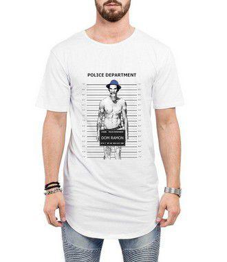 Camiseta Longline Oversized Masculina Seu Madruga