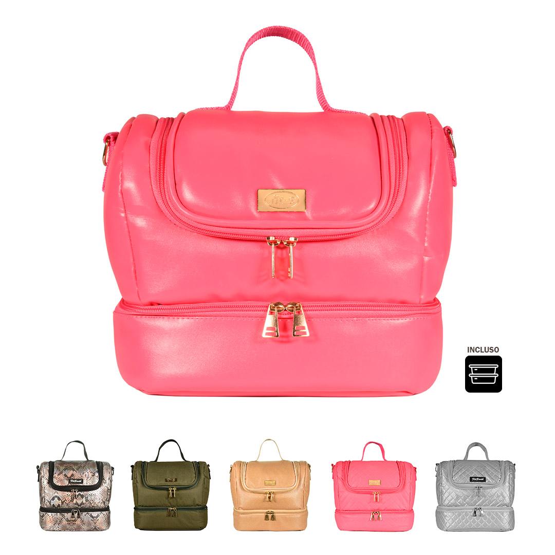 Bolsa Térmica FitSanté Double Bag com 2 Potes Multiuso