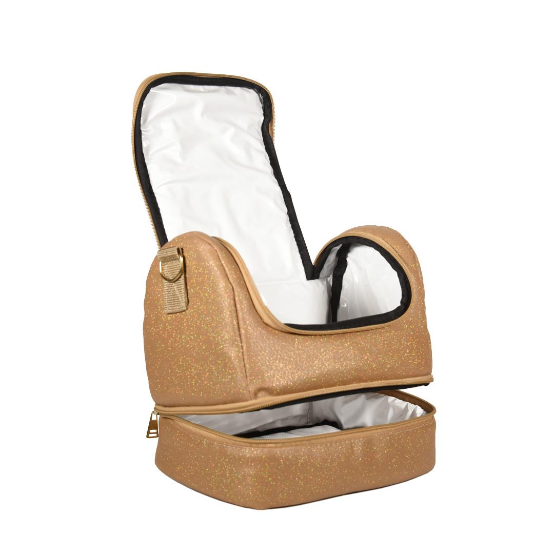 Bolsa Térmica FitSanté Double Bag Classic Gold Gliter