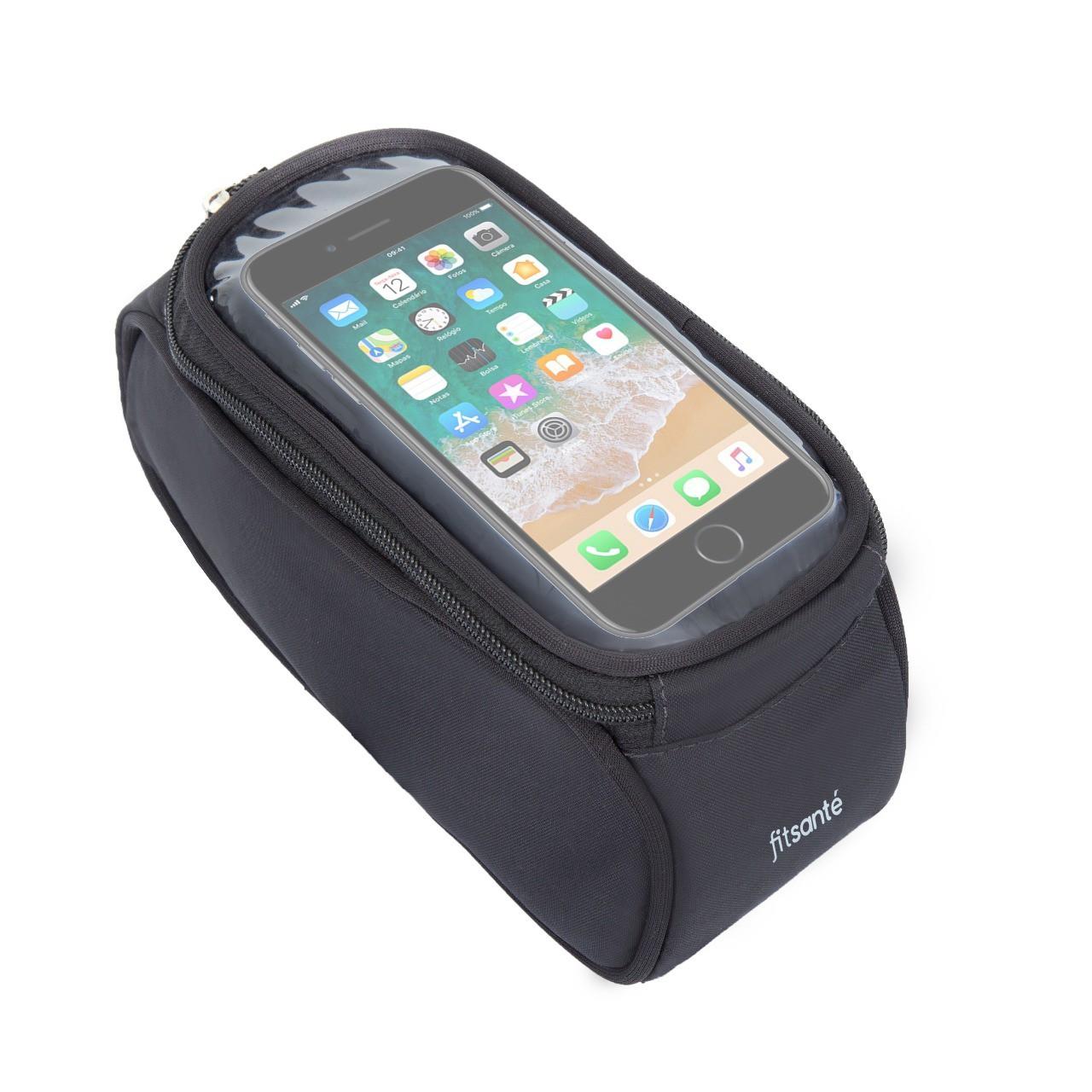 Kit Bolsa de Quadro FitSanté com porta Celular + Luva