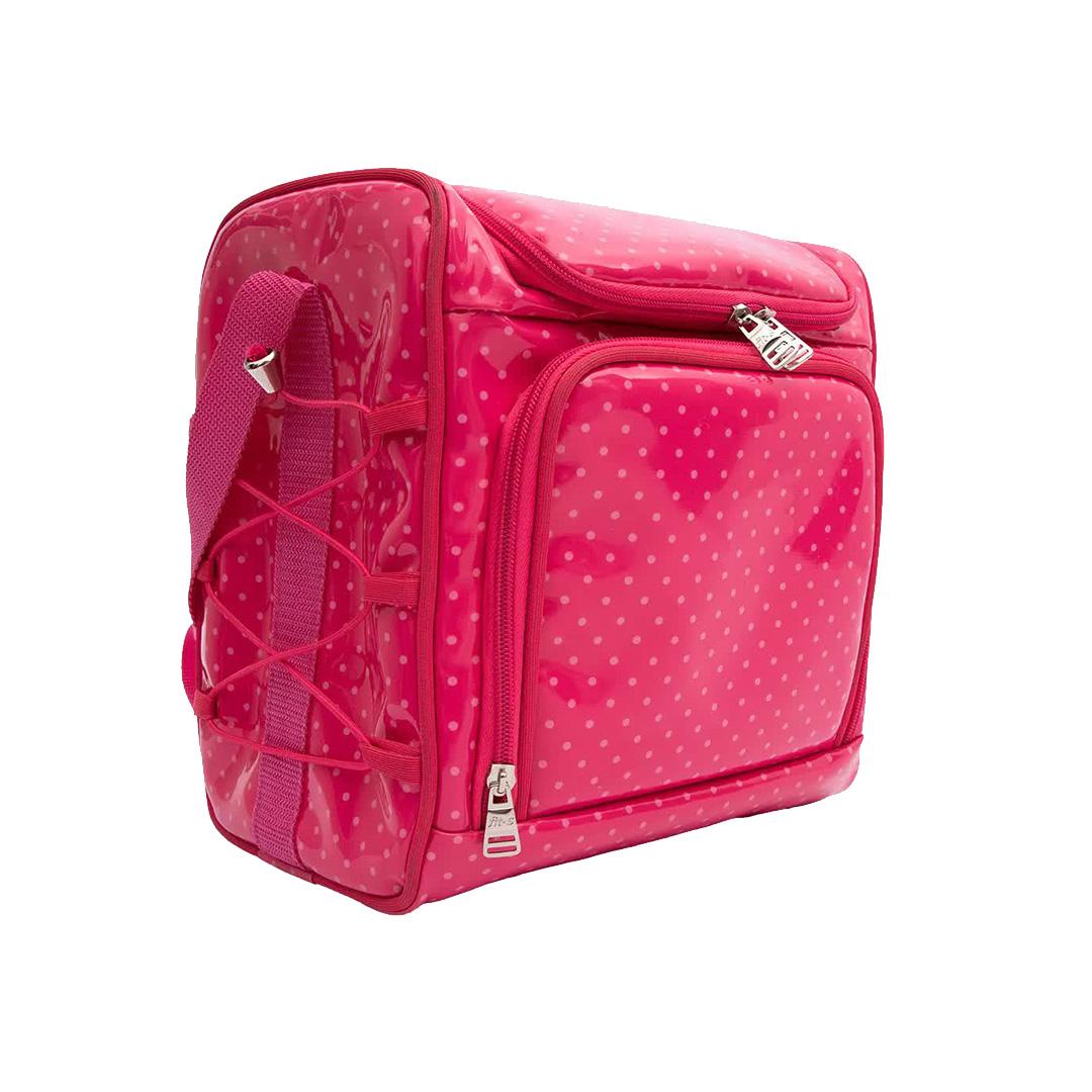 Bolsa Térmica FitSanté Food Bag Essencial Poá Pink