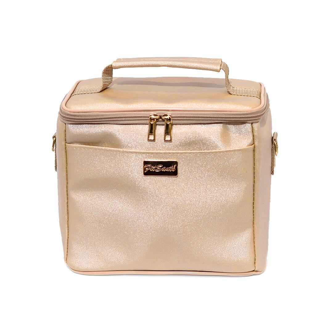 Bolsa Térmica FitSanté Karbo Classic Gold Gliter