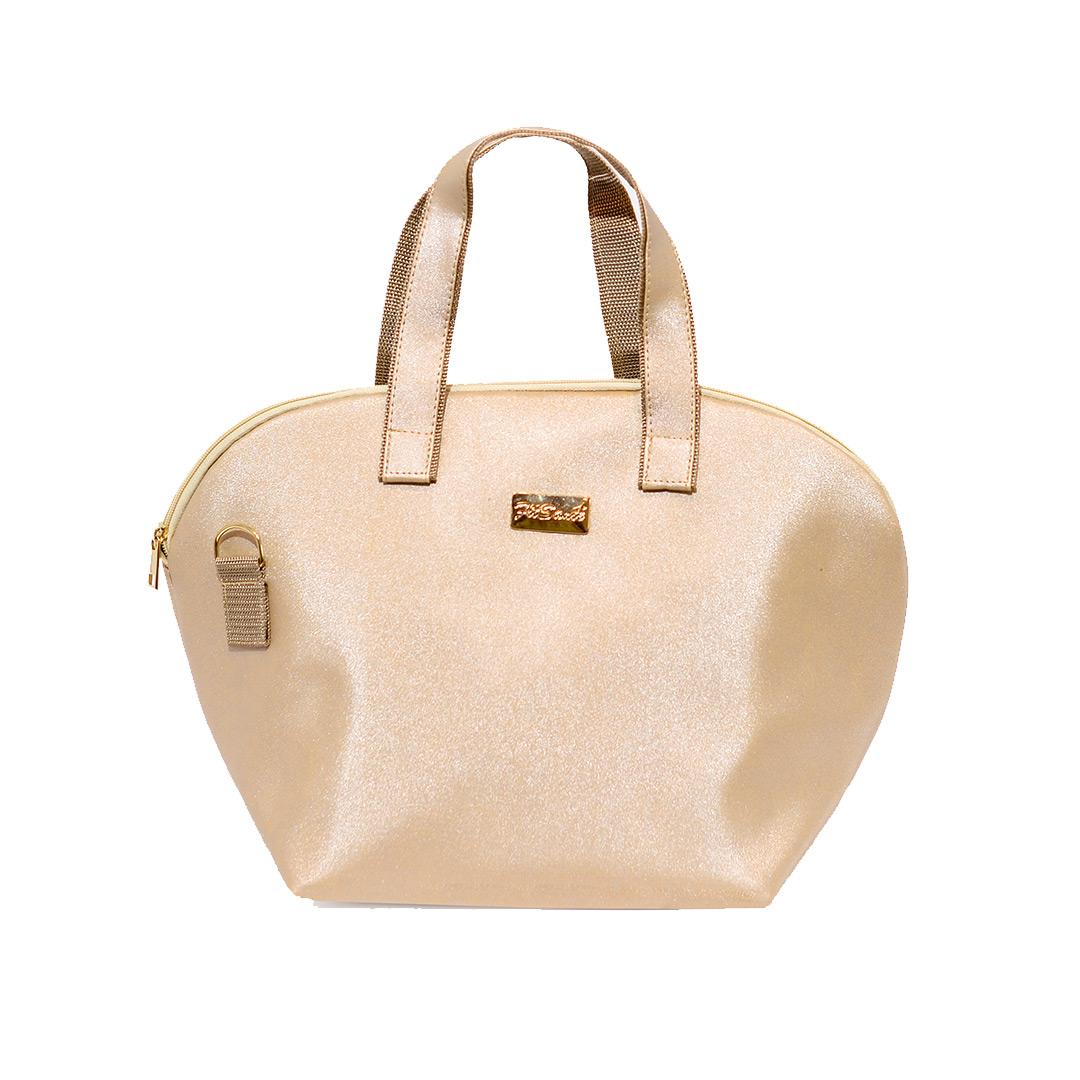 Bolsa Térmica FitSanté Lunch Bag Classic Gold Gliter