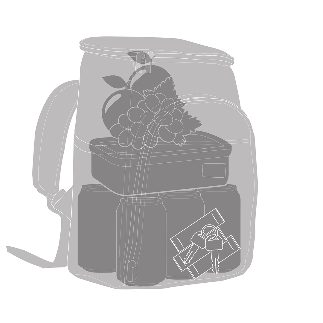 Mochila Térmica FitSanté Cooler Bag Colors Black