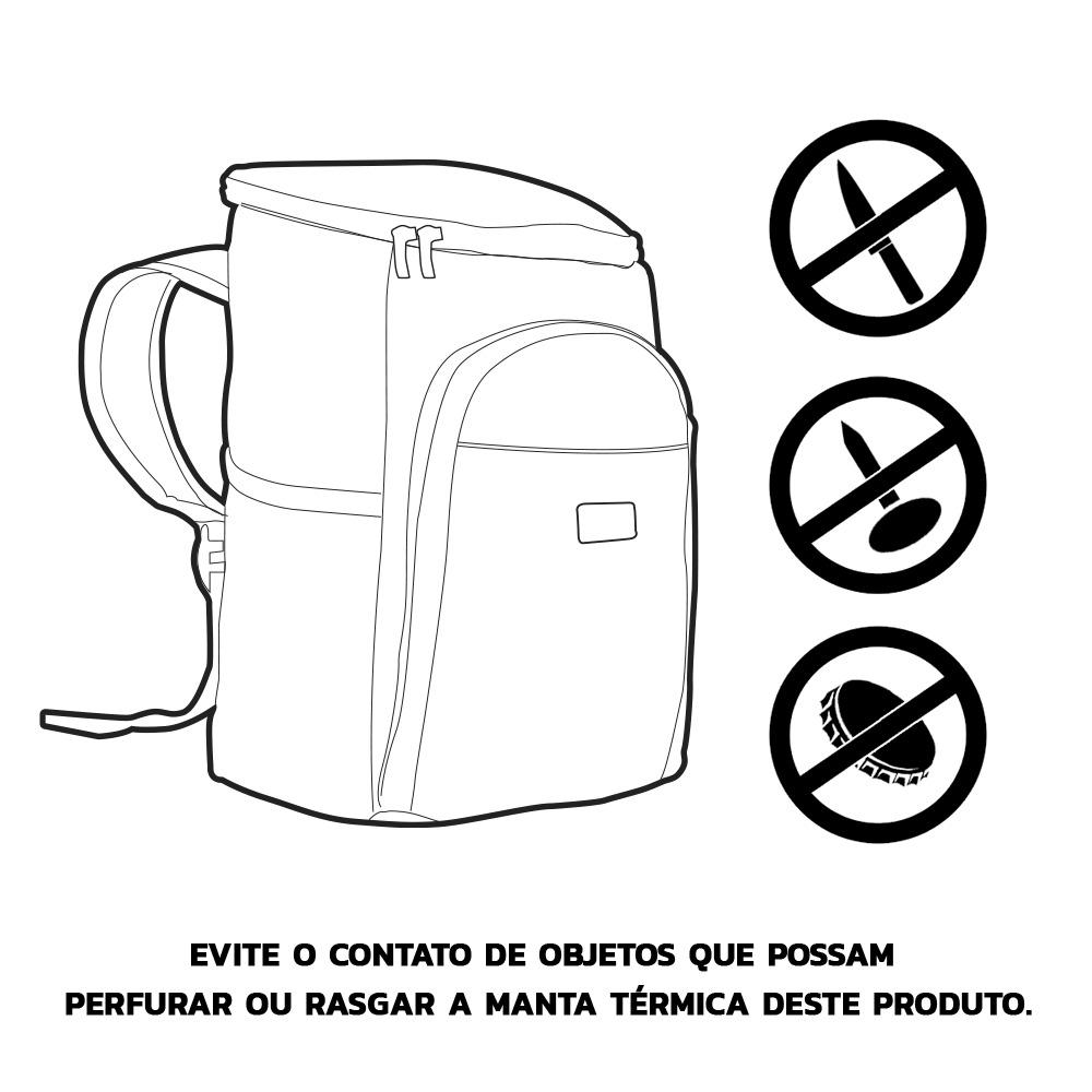 Mochila Térmica FitSanté Cooler Bag Essencial Dark