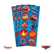 Adesivo 30 Unidades - Cars - Regina Festas