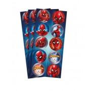 Adesivo 30 Unidades - Spider Man - Regina Festas