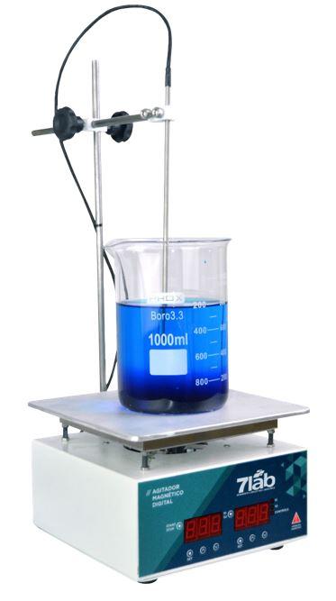 Agitador Magnético COM Aquecimento 7Lab Digital 220v - 10L