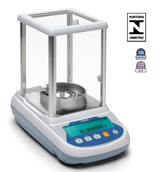 Balança Semi-micro Analítica Bel HPBG2285i (5 casas) - 0,01mg Calibração Interna e Display Gráfico