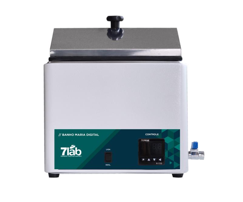 Banho Maria Digital 7Lab Microprocessado até 100ºC - 5 L