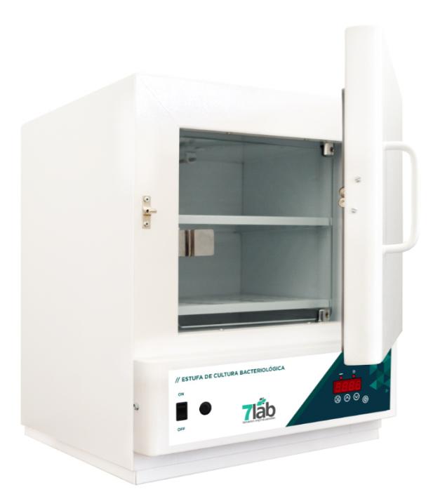 Estufa Incubadora Bacteriológica 7Lab Digital com timer – 11 Litros - INOX (Bivolt)