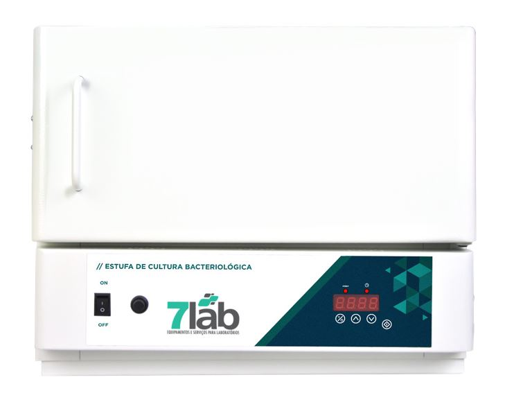 Estufa Incubadora Bacteriológica 7Lab Digital com timer 21 Litros - INOX (Bivolt)