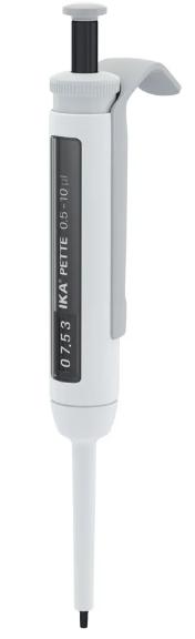 Pipetador Micropipeta volume variável IKA Pette vario 0,5-10ul - Com certificado de calibração RBC