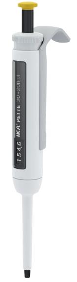 Pipetador Micropipeta volume variável IKA Pette vario 20-200ul - Com certificado de calibração RBC