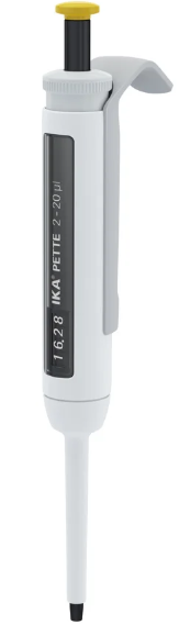 Pipetador micropipeta volume variável IKA pette vario 2-20ul - Com certificado de calibração RBC