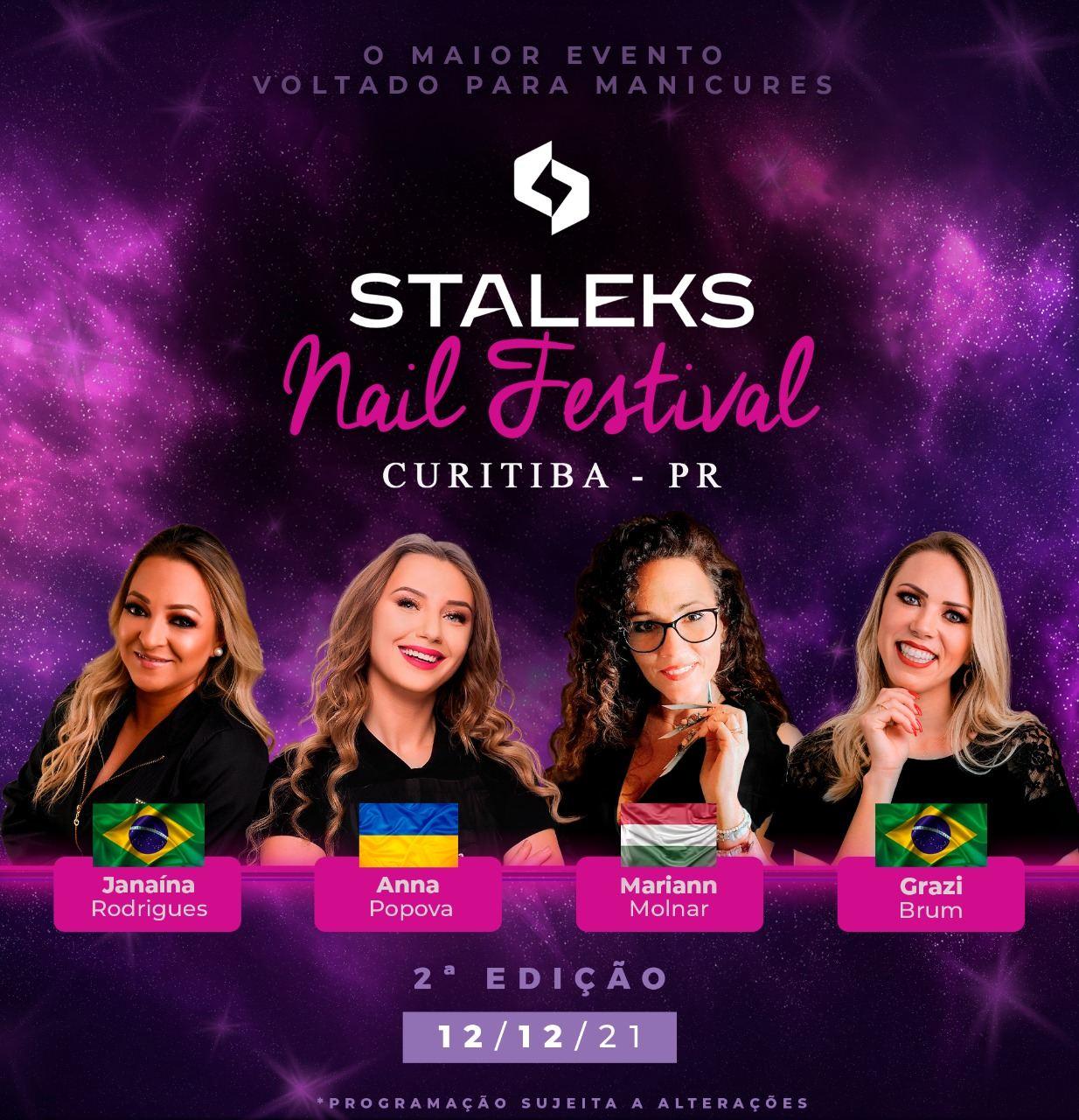 Ingresso Staleks Nail Festival Curitiba - 3º Lote