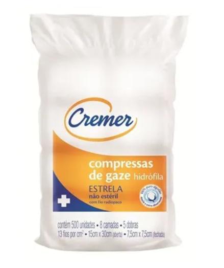 COMPRESSA EST ETO 9F CREMER 7,5X7,5 PCT. C/ 10 UNID.