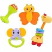 Conjunto de Chocalhos Baby Fun - Buba Baby