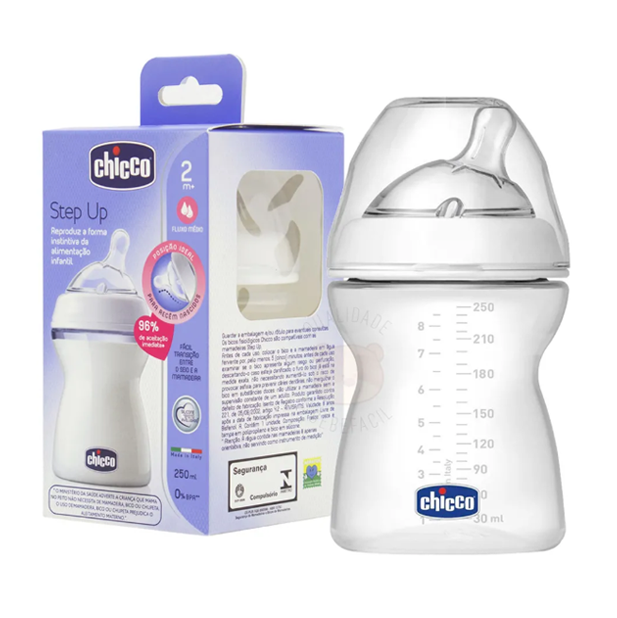 MAMADEIRA CHICCO STEP UP 250ML CORES